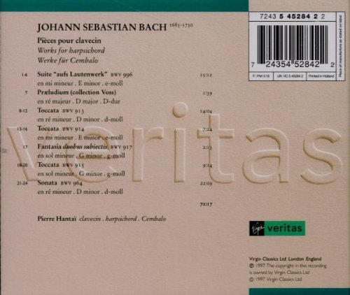 Pierre Hantai - Bach's Instrumental Works - Discography